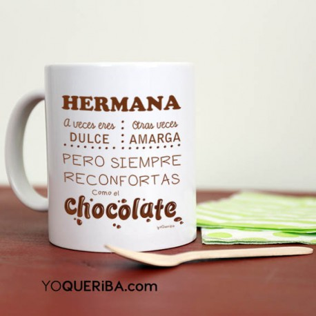 "Taza ""Hermanas como chocolate"""
