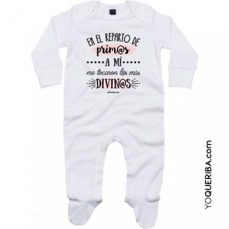 "Pijama para bebé ""Prim@s Divin@s"""