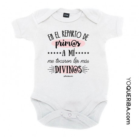"""Body para bebé """"Prim@s divin@s"""""""
