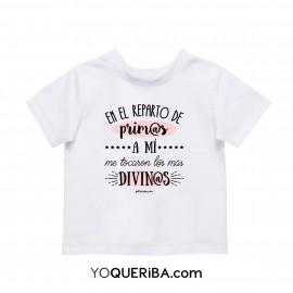 """Camiseta bebé """"Prim@s Divin@s"""""""