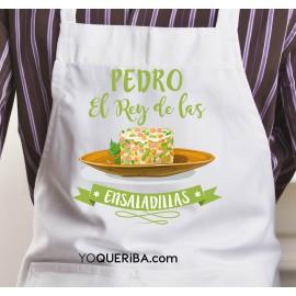 """Delantal personalizado """"El Rey de la ensaladilla"""""""