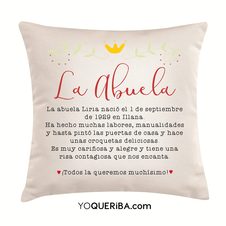 Cojines con frases y diseños personalizados   yoQueriba - yoQueriba