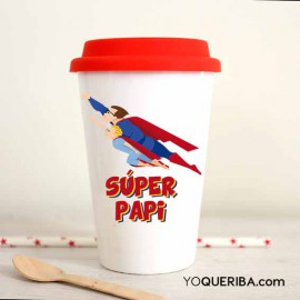 "Taza Take away ""superpapá"""
