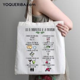 """Tote Bag """"Mandamientos de la maternidad"""""""