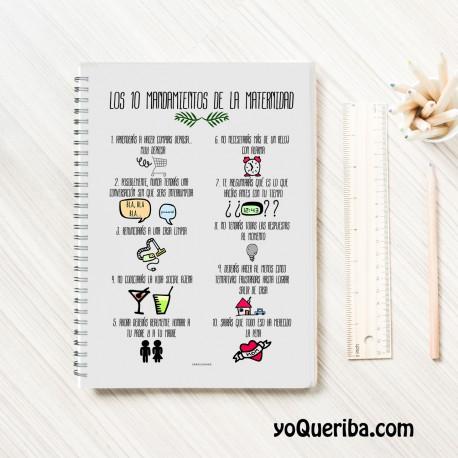 """Cuaderno """"Mandamientos de la maternidad"""""""