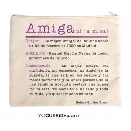 """Neceser personalizado """"Amiga"""""""