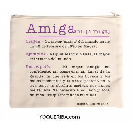 """Bolso de mano personalizado """"Amiga"""""""