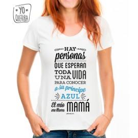 """Camiseta """"Mi principe azul: ¡mi hijo!"""""""