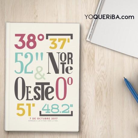"""Cuaderno """"Coordenadas"""""""""""
