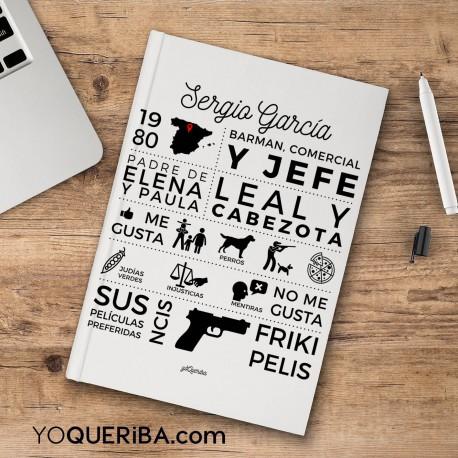 """Cuaderno personalizado """"Infografiá Papá"""""""