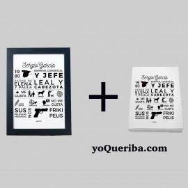 """Kit  personalizable """"Infografía Papá"""""""
