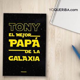 """Cuaderno """"Papa Star Wars"""""""