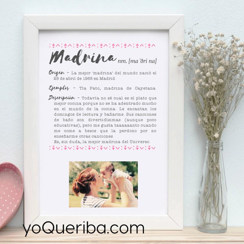 Marco de fotos personalizado madrina