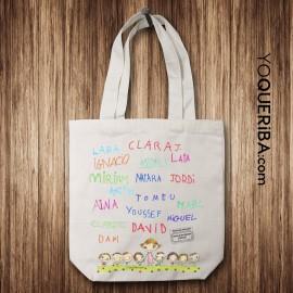 "Tote bag personalizado para profes ""Firmas"""