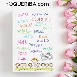 Cuaderno personalizado con los nombres de los niños