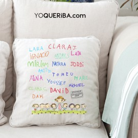 Cojín personalizado con los nombres de los niños