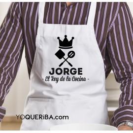 """Delantal personalizado """"El Rey de la cocina"""""""