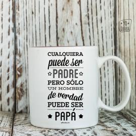 "Taza  ""Papá tus abrazos mi hogar"""