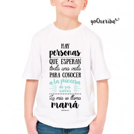 "Camiseta niños ""Mi princesa se llama mamá"