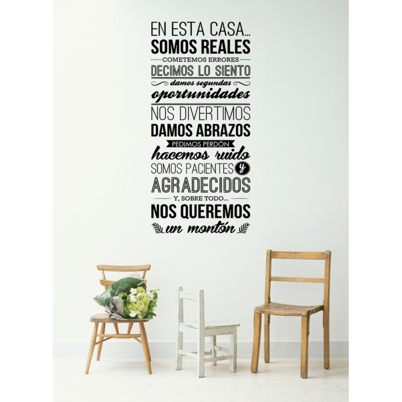 Frases en vinilo vinilos decorativos con frases 1 blog for Vinilos decorativos casa