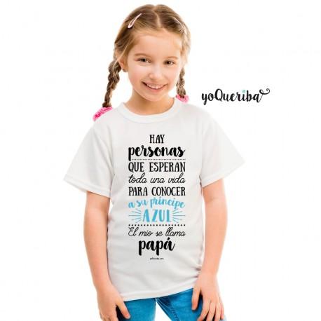 "Camiseta niña ""Mi príncipe se llama papá"""