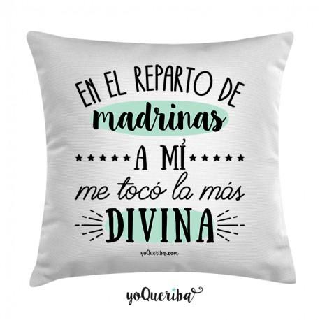 """Cojín """"Mi madrina la más divina"""""""