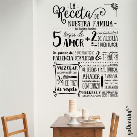 Vinilo la receta de mi familia - El comedor de familia ...