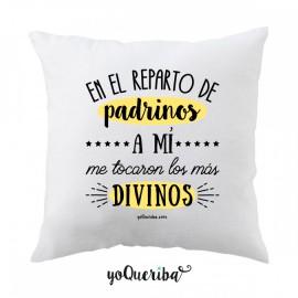 """Cojín """"Mis padrinos los más divinos"""""""