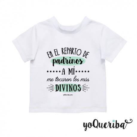 """Camiseta bebé  """"Mis padrinos los más divinos"""""""