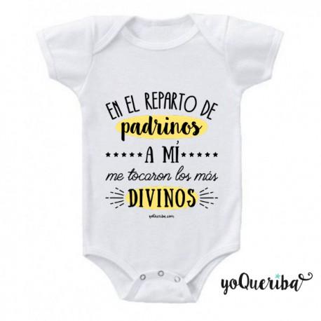 """Body para bebé """"Mis padrinos los más divinos"""""""