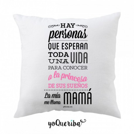 "Cojín ""Princesa de mis sueños: mi hija"""