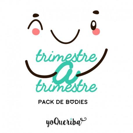 """Pack 5 Bodies bebé """"Trimestre a trimestre"""""""""""